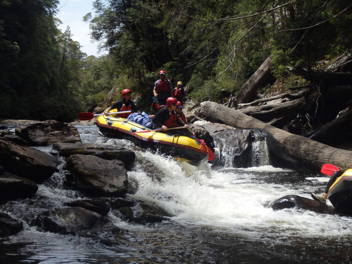 One of the drops on the Collingwood - Water by Nature Tasmania - Franklin River Rafting