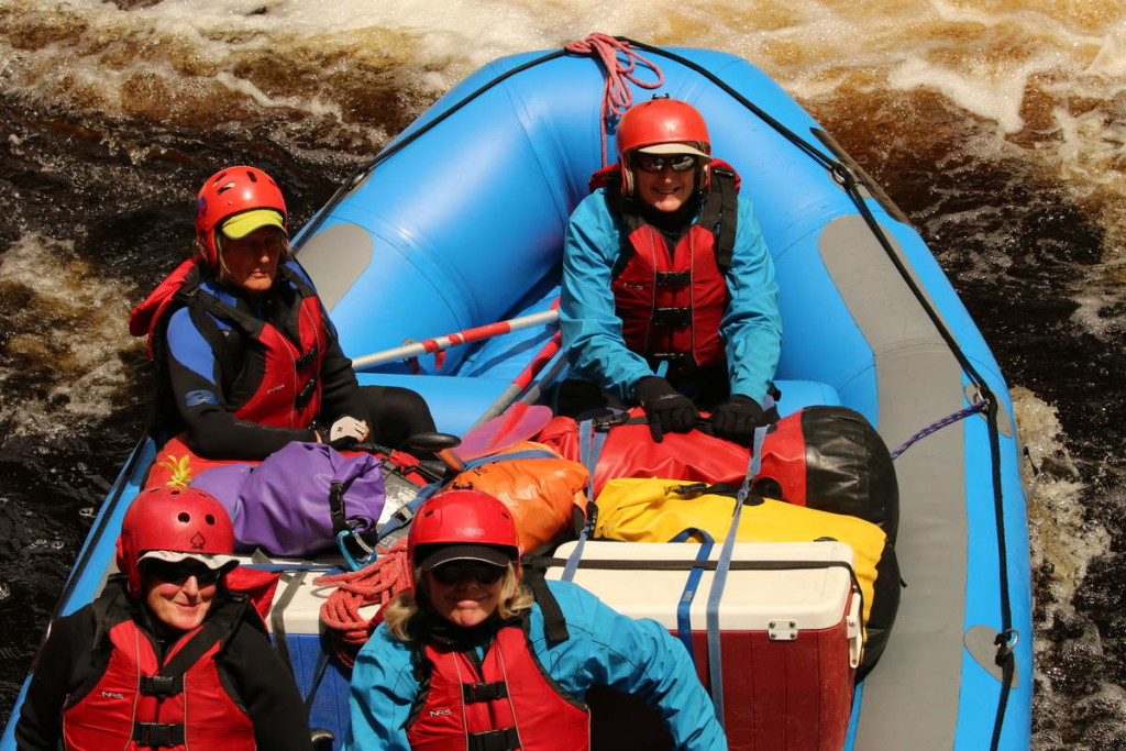 Happy Girls - at Water by Nature Tasmania, Franklin River Rafting™