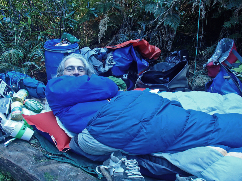 Brett is 'flat out' in camp, Water by Nature Tasmania, Franklin River Rafting ™