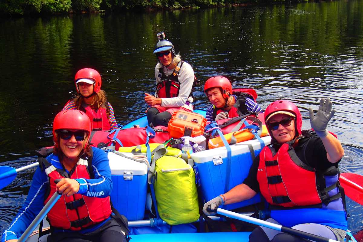 Happy rafters on the Franklin River